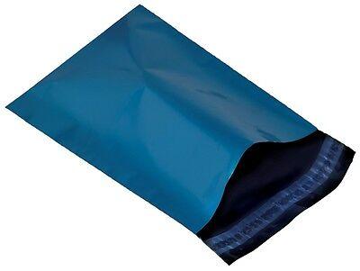 UK STOCK 100 x metalic Blue Plastic Mailing Bags 13 x 19 13x19 330x485 mm LARGE