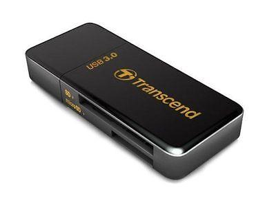TRANSCEND CARD READER WRITER MULTI F5 BLACK RDF5 RDF5K USB 3.0 DATA RECOVERY NEW