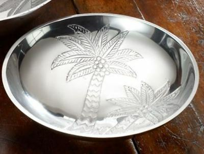 Palm Tree Embossed Aluminum Metal Small Bowl -9780
