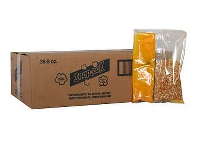 Popcorn Machine Supplies - Popcorn Snap Packs For 6 Oz - 36 Packs Per Case