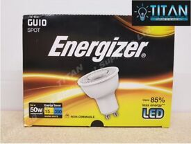 LED GU10 5W (50W) WARM WHITE ENERGIZER 360 LUMENS (12 PACK)
