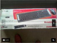 Trust wireless optical deskset (keyboard and mouse)