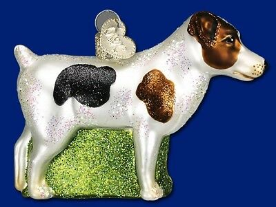 JACK RUSSELL TERRIER OLD WORLD CHRISTMAS BLOWN GLASS DOG BREED ORNAMENT 12218