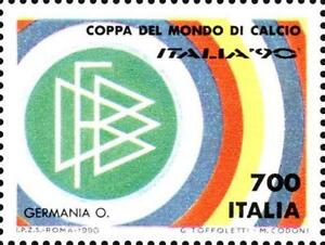 # ITALIA ITALY - 1990 - Deutschland World Football Soccer Calcio - Stamp MNH - Italia - L'oggetto può essere restituito - Italia