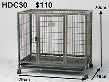 Heavy Duty Metal Tube Pet Dog Cat Cage Crate on Castor Playpen Richlands Brisbane South West Preview