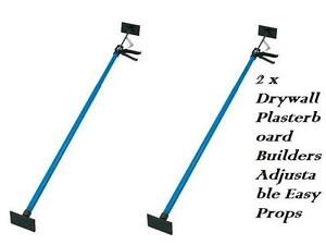 2 x Drywall Plasterboard Builders Adjustable Easy Props
