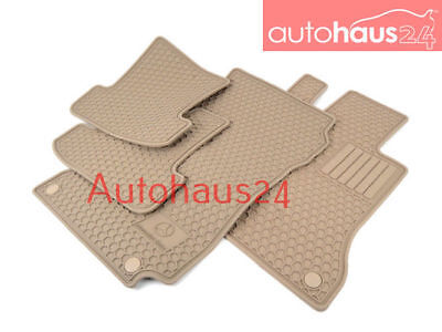 MERCEDES-BENZ A207 C207 E-CLASS ALL SEASON RUBBER FLOOR MAT SET GENUINE BEIGE