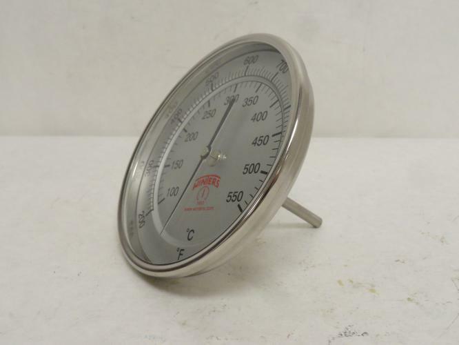 185664 New-No Box, Winters TNR33025B13 Bi-Metal Thermometer 200-1000 Degrees F