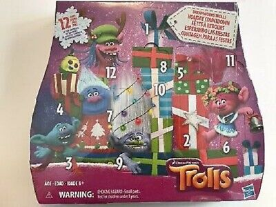 Hasbro Dreamworks TROLLS Countdown Advent Calendar 12 Days of Christmas Toys NEW