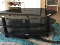 """Black Tv Table - Used Good Condition. Up to 46"""" TV"""