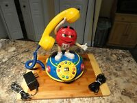 M&M Red Character Voice Activated Animated Kitchen/Bedroom Phone