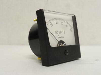 186054 New-no Box Simpson 9610 Analog Dc Volt Panel Meter 0-100vdc