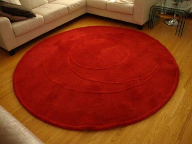 Ikea Red Round Rug In Borehamwood Hertfordshire Gumtree