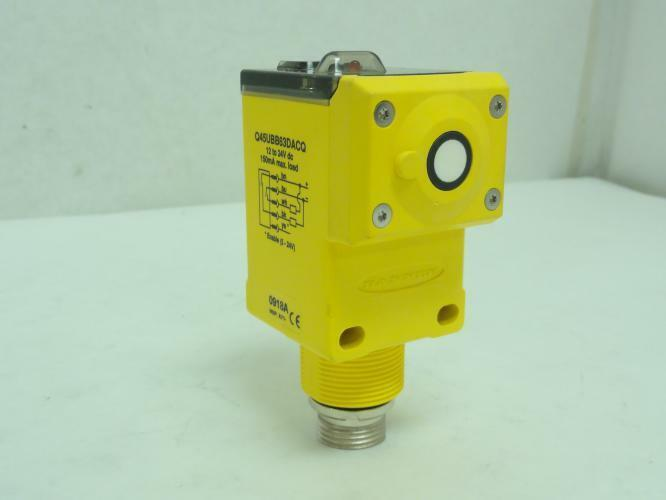 165935 New-Incomplete, Banner Q45UBB63DACQ Proximity Sensor, 12~24VDC NO HARDWAR