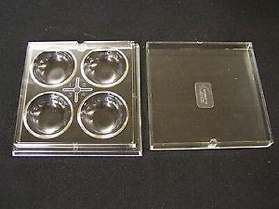 4 WELL CLEAR PLASTIC BEAD STORAGE TRAY WITH LID