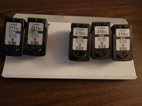 5 Empty Canon Ink Cartridges--3 210XL and 2  211XL