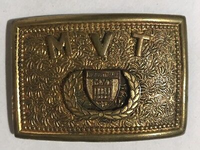 Vintage Mergenthaler Vocational Tech High School Baltimore MD Brass Belt Buckle