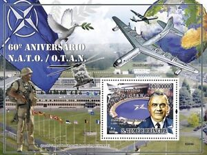 60 Years of NATO plane war military Sao Tome 2009 s/s MNH Mi. Bl. 689 #ST9304b - Olsztyn, Polska - 60 Years of NATO plane war military Sao Tome 2009 s/s MNH Mi. Bl. 689 #ST9304b - Olsztyn, Polska