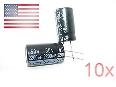 10pcs 2200uf 50v Electrolytic Capacitors 50v 2200f
