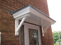 Door Canopies . Supplied & fitted with a 10 year warranty.