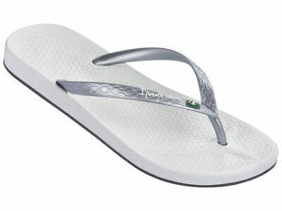 Ipanema Women's Anatomica Brilliant Flip Flop Silver / White