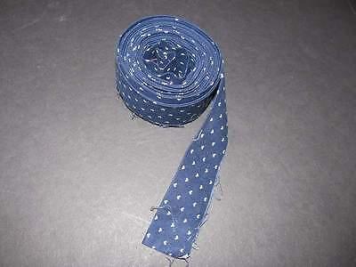 Binding Single Fold Navy with tan hearts 5 yds 100% Cotton Fabric #159