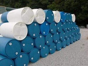 55 Gallon plastic drums BULK SALES available