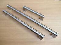 22mm BOSS BAR HANDLES KITCHEN CABINET WARDROBE DOOR - S/S FINISH 610mm + VARIOUS SIZES