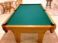 Quality Built 8x4 Olhausen Uniliner slate pool table