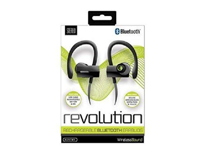 Sentry Revolution Rechargeable Bluetooth Earbuds With In Line Mic Bt990gr Ebay