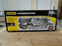 Stanley Professional Grade 36 Piece Black Chrome Wrenches