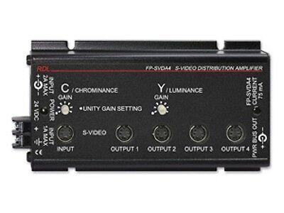 RDL Radio Design Labs FP-SVDA4 NIB S-Video Distribution Amplifier - 1x4