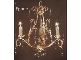 Brand New French Epone Chandelier In Gold RRP £299