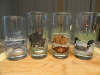 Irving Oil Company Promo Glass Whale, Black Bear, Beaver, & Loon
