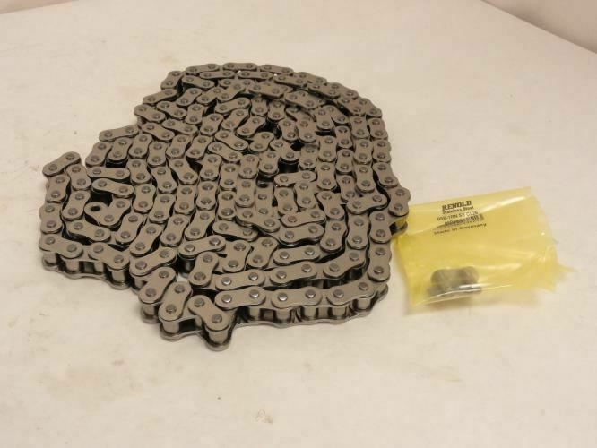 206454 New-No Box, Renold 08B1SSX10FT Roller Chain # 08, SS, Riveted, 10