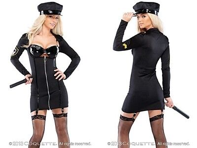 Police Officer Costume Accessories (NEW Coquette Sexy Corrections Police Officer Costume w/Accessories Halloween)