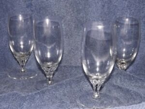 EXQUISITE CRYSTAL JUICE GLASSES