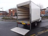 MAN WITH A BIG FORD LUTON VAN TAIL LIFT CHEAPEST BIRMINGHAM WEST MIDLANDS REMOVAL DELIVERY COURIER