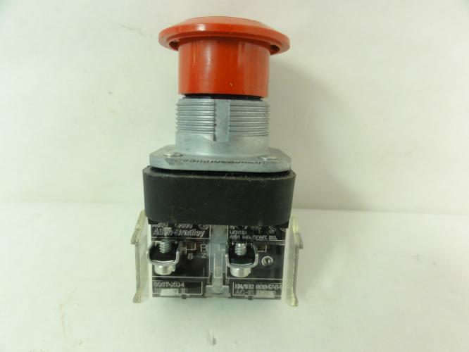 189550 Old-Stock, Allen-Bradley 800T-FX6D4 Push Button, 600VAC/VDC, NEMA 4/13