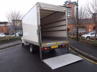 MAN WITH A FORD TRANSIT LUTON BOX VAN HIRE RENT REMOVAL COURIER TRANSPORT DELIVERY HOUSE FLAT MOVE