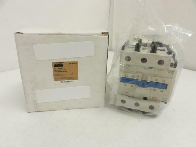 143324 New In Box, Dayton 2UXF9 Contactor 80A 3P 600V Max, Coil: 24V