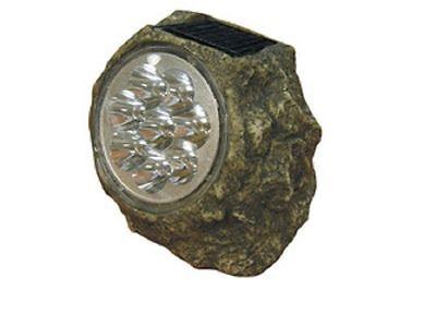 Lamp Solar Granite for the Garden 8 LED Light Ignition Automatotica