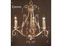 Brand New Epone Chandelier In Gold