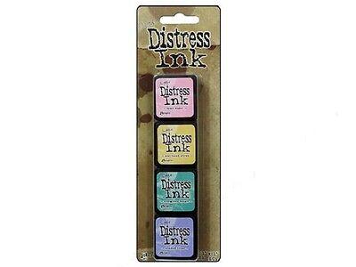 Tim Holtz Mini Distress Ink Pad Kit #4 TDPK40347 - 4 pk