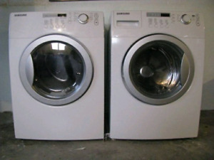 SOLD. Samsung front load washer and dryer pair / set