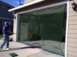 GOLF SOCCER HOCKEY BASEBALL SOFTBALL GARAGE DOOR NET NEW $40 ...