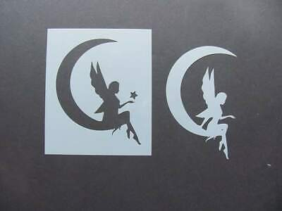 Fairy on the Moon  Mylar Stencil Art Airbrush Paint Durable Reusable  -L376 - The Moon Fairy