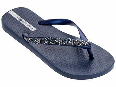 Ipanema Women's Glam Special Crystal Flip Flop Navy