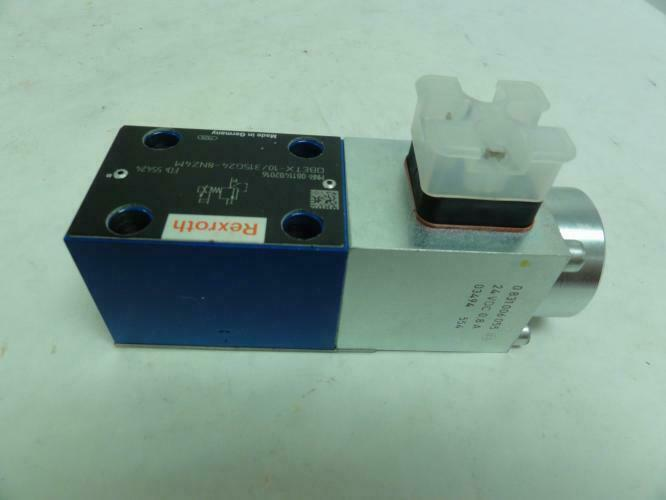 188302 New-No Box, Rexroth 811402016 Pressure Relief Valve, 315 Bar, 24VDC, 0.8A