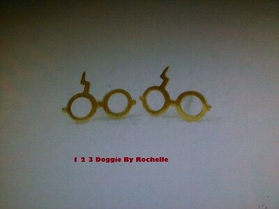 Harry Potter Tiny Glasses with Lighting Bolt Stud Earrings (Gold or - Harry Potter Lighting Bolt
